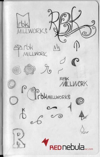 RBK Millwork Logo Sketches