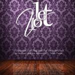 Magazine Intro Page Design - Violet