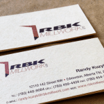 RBK Millwork Business Card Design