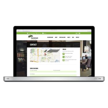 Contrast Homes Website Design