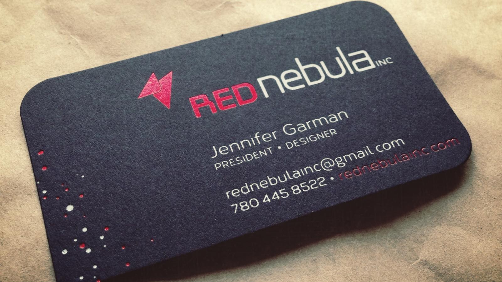 Red Nebula Inc. Business Card Design