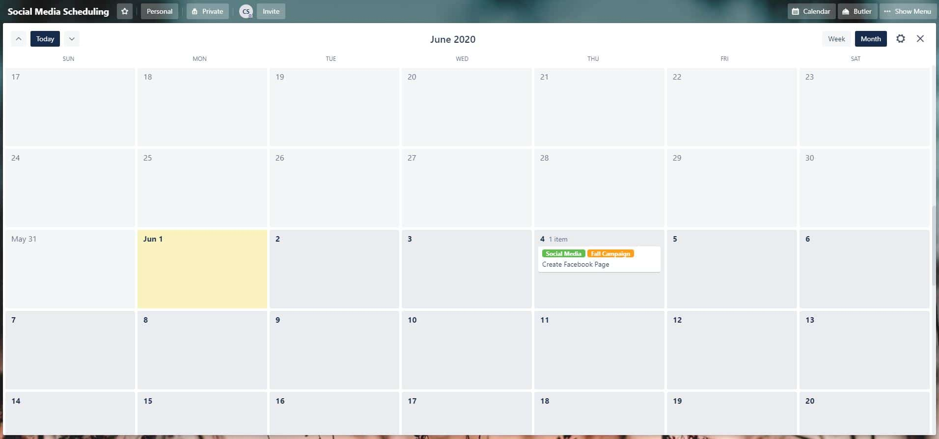 Using Trello - Free Calendar Power-Up